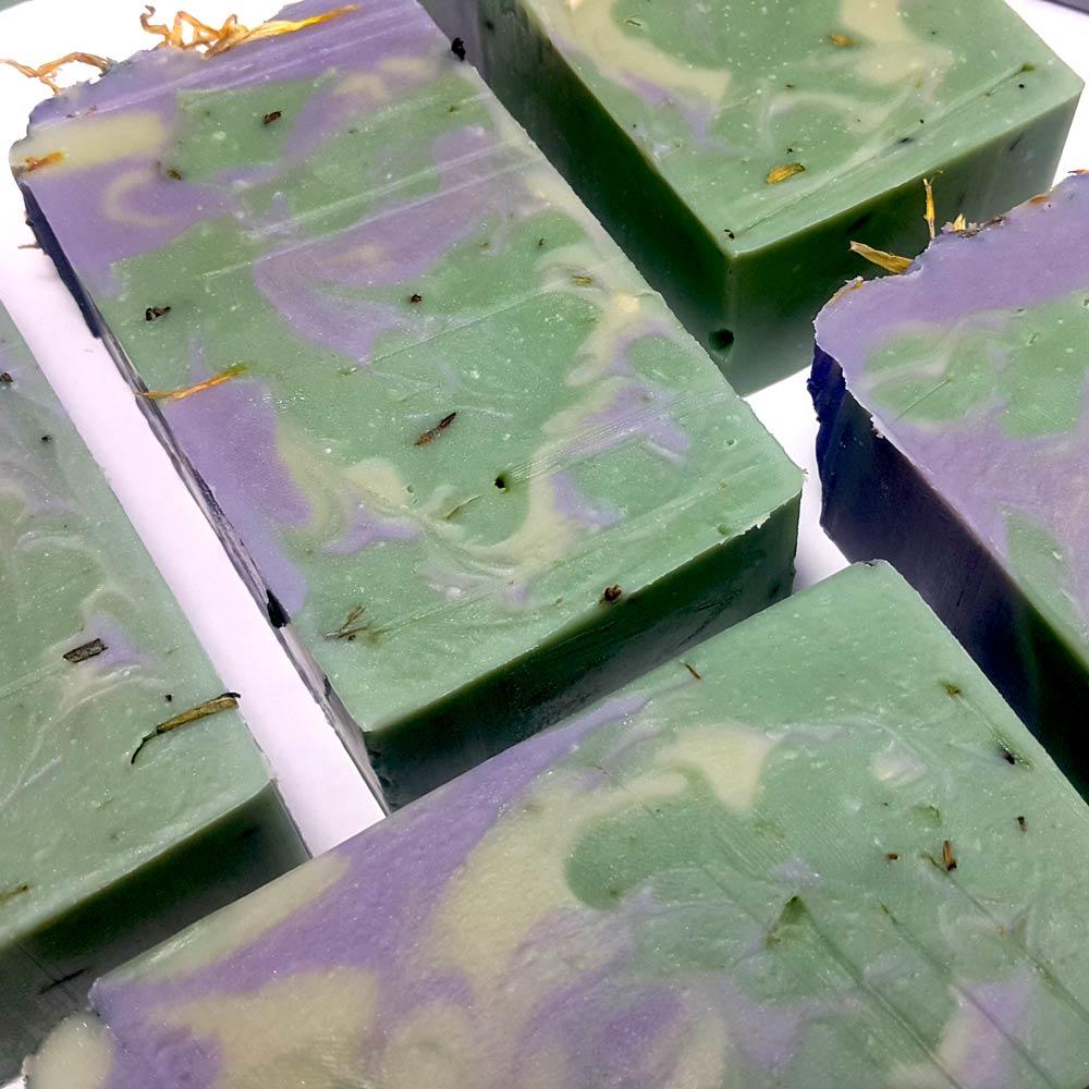 Aloe Vera Avocado Handmade Soap with Silk - The Green Giant